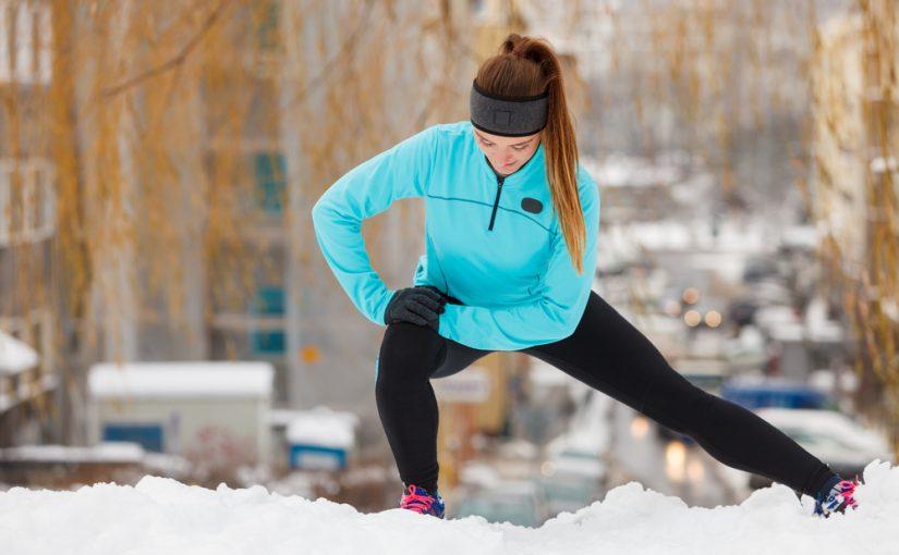 correre inverno stretching